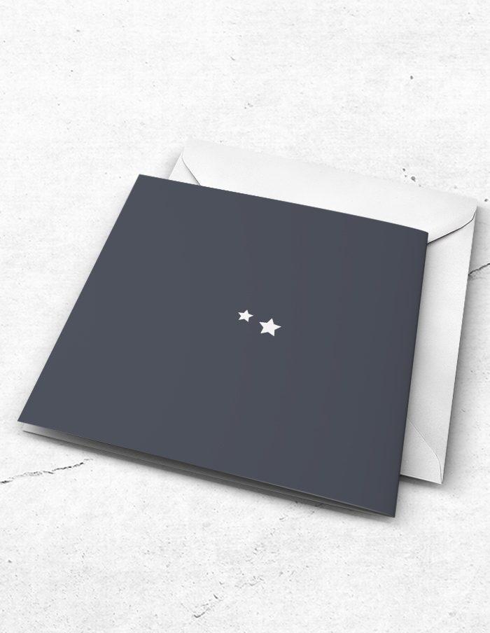 Bruidsmeisjeskaart stoer grijs achterzijde