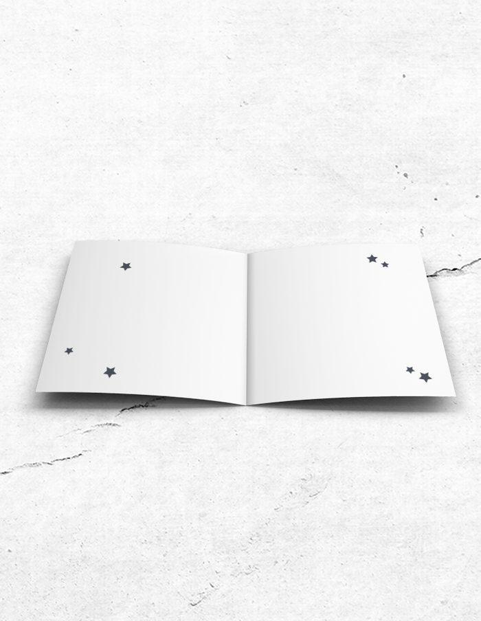 Bruidsmeisjeskaart stoer grijs binnenzijde