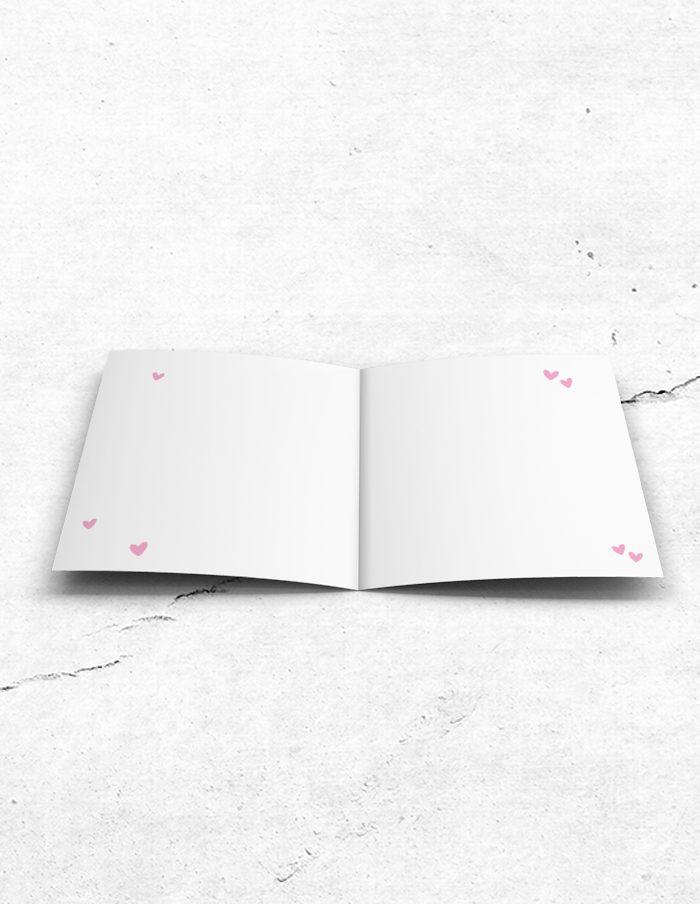 Getuigekaart roze lief binnenzijde