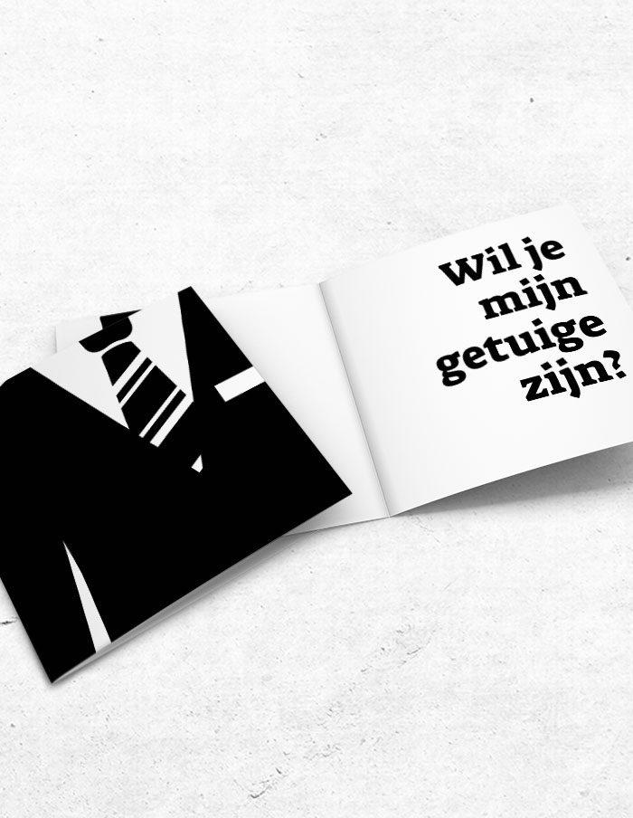 Getuigekaart stropdas voor-binnenzijde