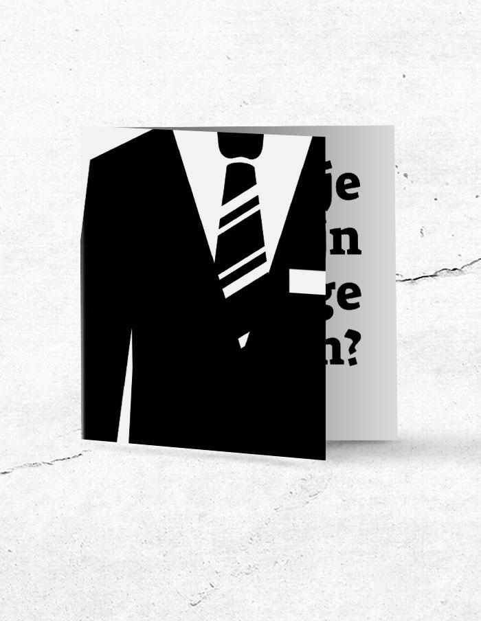 Getuigekaart stropdas
