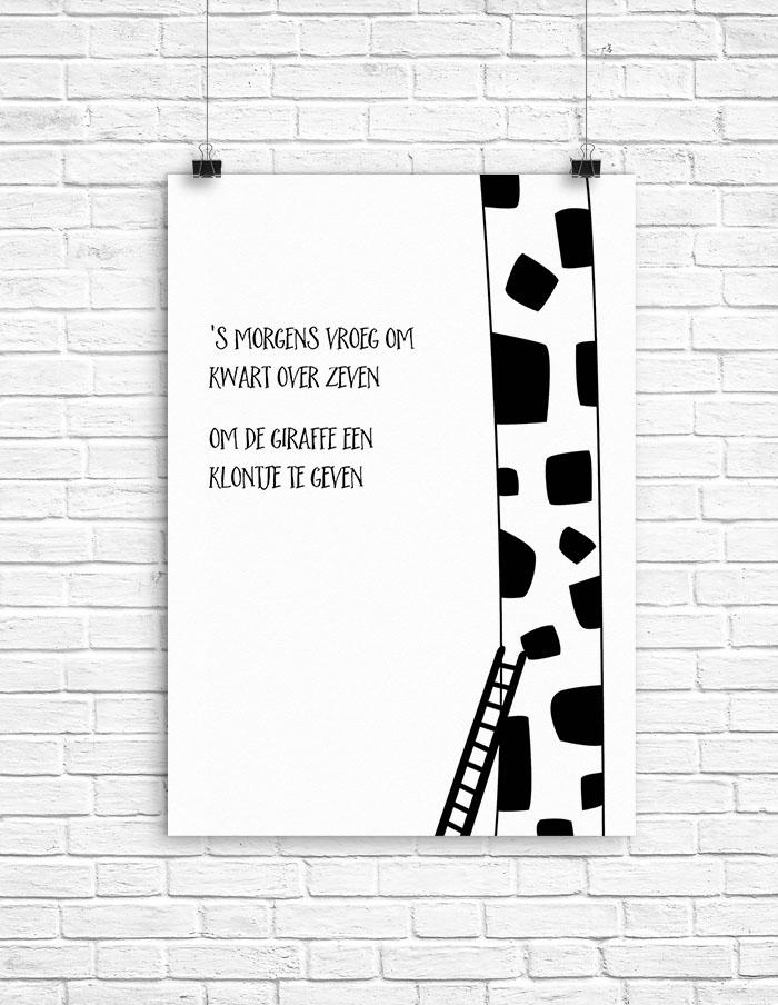 Poster Kwart over zeven