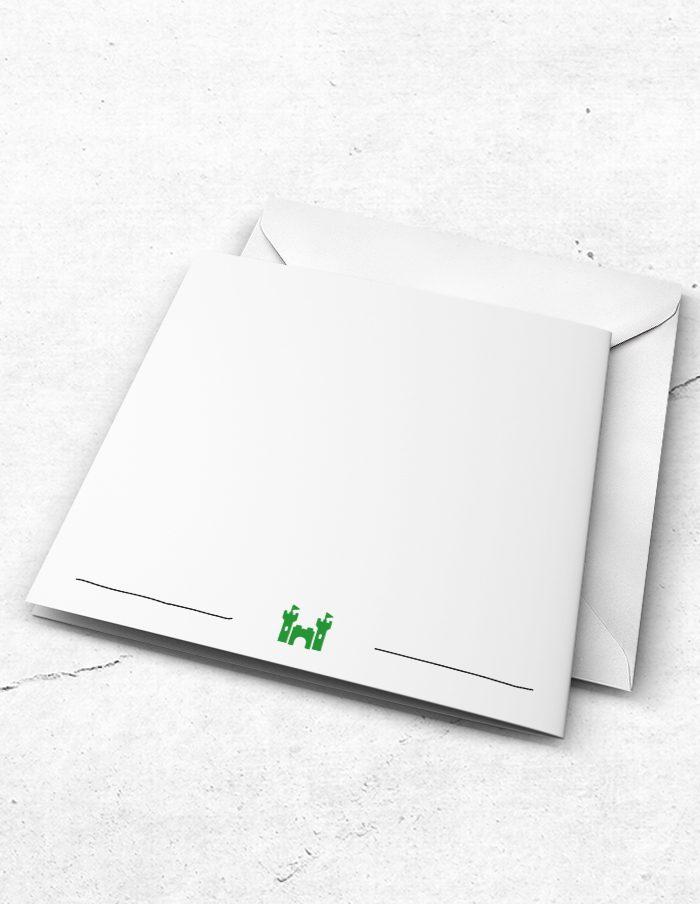 Bruidsmeisjeskaart Prince & Frog achterzijde
