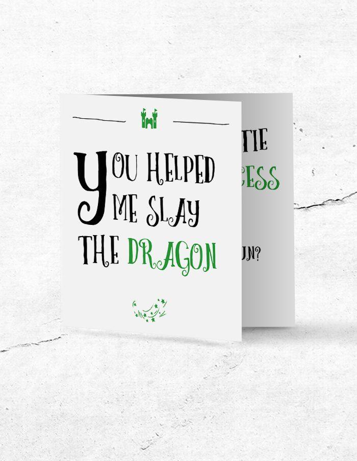 Ceremoniemeesterkaart Princess & Dragon voorzijde