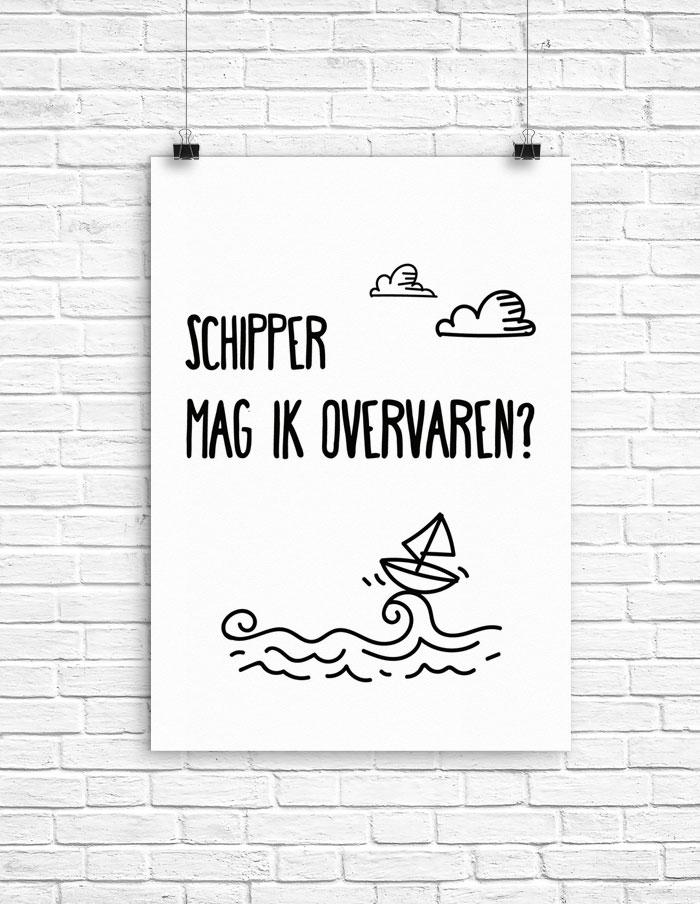 Poster Schipper mag ik overvaren?